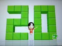 Wii Fit Plus 7月31日のバランス年齢 20歳