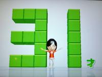 Wii Fit Plus 8月1日のバランス年齢 31歳