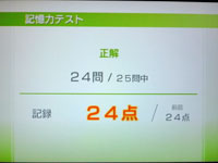 Wii Fit Plus 8月2日のバランス年齢 22歳 記憶力テスト結果