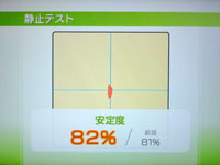 Wii Fit Plus 8月2日のバランス年齢 22歳 静止テスト結果
