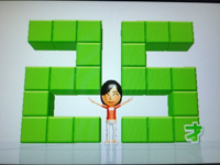 Wii Fit Plus 8月11日のバランス年齢 25歳