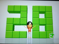 Wii Fit Plus 8月17日のバランス年齢 28歳