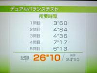 Wii Fit Plus 8月17日のバランス年齢 28歳 デュアルバランステスト結果