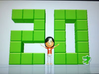 Wii Fit Plus 8月20日のバランス年齢 20歳