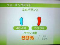 Wii Fit Plus 8月21日のバランス年齢 30歳ウォーキングテスト結果