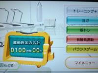 Wii Fit Plus 8月21日 100時間