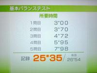 Wii Fit Plus 8月22日のバランス年齢 24歳 基本バランステスト結果