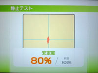 Wii Fit Plus 8月23日のバランス年齢 23歳 記憶力テスト結果