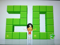 Wii Fit Plus 8月25日のバランス年齢 20歳