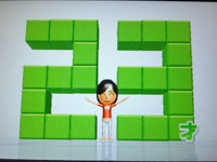 Wii Fit Plus 8月26日のバランス年齢 23歳