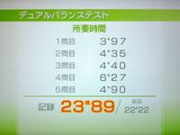Wii Fit Plus 8月28日のバランス年齢 27歳 デュアルバランステスト結果