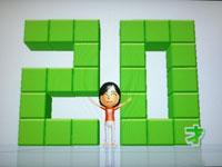 Wii Fit Plus 8月31日のバランス年齢 20歳