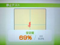 Wii Fit Plus 9月1日のバランス年齢 25歳 静止テスト結果