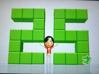 Wii Fit Plus 9月1日のバランス年齢 25歳