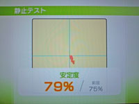 Wii Fit Plus 9月21日のバランス年齢 22歳 静止力テスト結果79%
