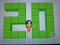 Wii Fit Plus 9月23日のバランス年齢 20歳