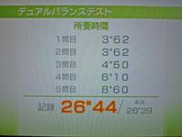Wii Fit Plus 9月24日のバランス年齢 25歳 デュアルバランステスト結果 26
