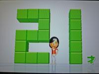 Wii Fit Plus 9月28日のバランス年齢 21歳