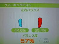 Wii Fit Plus 9月30日のバランス年齢 32歳 ウォーキングテスト結果 左右バランス バランス度57%