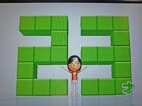 Wii Fit Plus 10月3日のバランス年齢 23歳