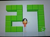 Wii Fit Plus 10月7日のバランス年齢 27歳
