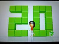 Wii Fit Plus 10月9日のバランス年齢 20歳