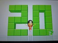 Wii Fit Plus 10月13日のバランス年齢 20歳