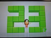 Wii Fit Plus 10月23日のバランス年齢 23歳