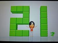 Wii Fit Plus 10月26日のバランス年齢 21歳
