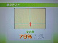 Wii Fit Plus 10月28日のバランス年齢 23歳 静止テスト結果 安定度 79%