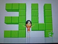 Wii Fit Plus 10月30日のバランス年齢 34歳
