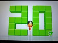 Wii Fit Plus 10月31日のバランス年齢 20歳