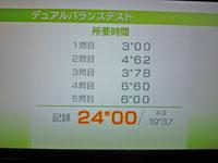 Wii Fit Plus 11月1日のバランス年齢 30歳 デュアルバランステスト結果 所要時間 24