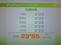 Wii Fit Plus 11月6日のバランス年齢 28歳 デュアルバランステスト結果