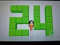 Wii Fit Plus 11月18日のバランス年齢 24歳