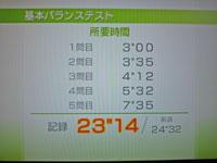 Wii Fit Plus 11月23日のバランス年齢 23歳 基本バランステスト結果23