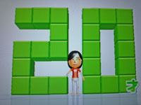 Wii Fit Plus 11月24日のバランス年齢 20歳