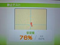 Wii Fit Plus 11月25日のバランス年齢 22歳 静止テスト結果 安定度76%