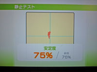 Wii Fit Plus 11月28日のバランス年齢 31歳 静止テスト結果 安定度75%