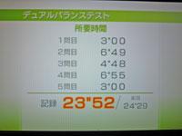 Wii Fit Plus 11月30日のバランス年齢 28歳 デュアルバランステスト結果 所要時間23