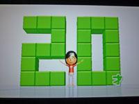 Wii Fit Plus 12月1日のバランス年齢 20歳