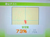 Wii Fit Plus 12月4日のバランス年齢 29歳 静止力テスト結果 安定度73%
