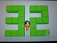 Wii Fit Plus 12月10日のバランス年齢 32歳