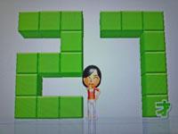 Wii Fit Plus 12月13日のバランス年齢 27歳