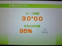 Wii Fit Plus 12月18日のバランス年齢 23歳 片足立ちテスト結果 キープ時間30