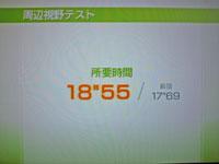 Wii Fit Plus 12月18日のバランス年齢 23歳 周辺視野テスト結果 所要時間18