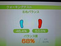 Wii Fit Plus 12月19日のバランス年齢 31歳 ウォーキングテスト結果 バランス度68%