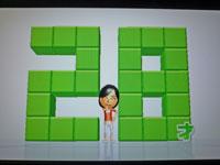 Wii Fit Plus 12月25日のバランス年齢 28歳
