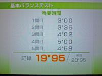 Wii Fit Plus 12月30日のバランス年齢 21歳 基本バラステスト結果 所要時間19