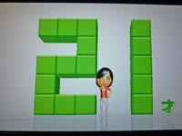 Wii Fit Plus 12月30日のバランス年齢 21歳
